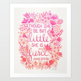 Little & Fierce – Pink Ombré Art Print