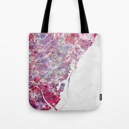 Barcelona map Tote Bag