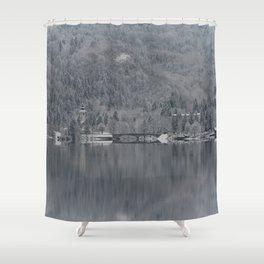 Church At Lake Bohinj Shower Curtain