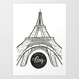 meet me in paris Art Print