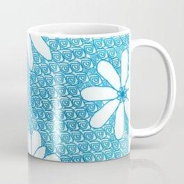 Blue flower design Coffee Mug