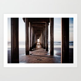The lonely footstep Art Print