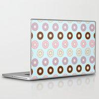 doughnut Laptop & iPad Skins featuring Doughnut Polka by Karolis Butenas