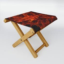 Fractal Flame Folding Stool