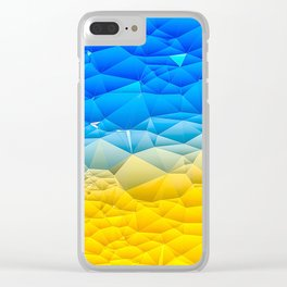 Sunshine and Blue Sky Quilted Abstract Clear iPhone Case