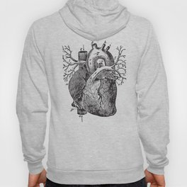 Human Heart Anatomy Detailed Illustration Hoody