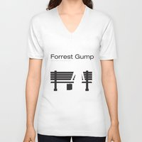 """forrest gump V-neck T-shirts featuring Film """"Forrest Gump"""" by Patricia Calzado"""