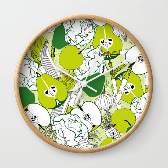 Vegetable pattern Wall Clock