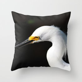 Snowy Portrait Throw Pillow