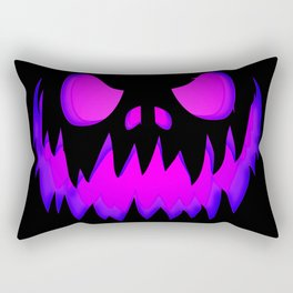 Evil pumpkin purple Rectangular Pillow