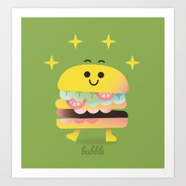 Dancing Burger Art Print