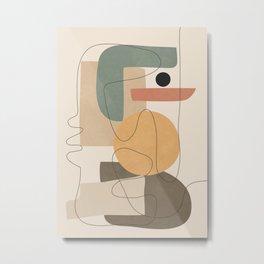 Abstract Minimal Shapes 24 Metal Print