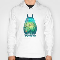 kawaii Hoodies featuring He Is My Neighbor by Victor Vercesi