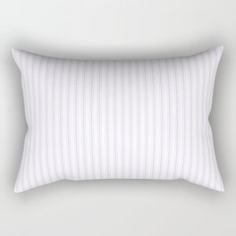 Chalky Pale Lilac Pastel and White Mattress Ticking Stripes Rectangular Pillow