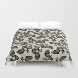 Bats On The Run Duvet Cover