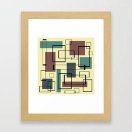 Mid Century Modern Rectangles Framed Art Print