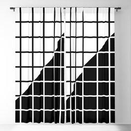 VAPOR-WAVE (BLACK-WHITE) Blackout Curtain