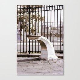 Williamsburg Park Fountain Canvas Print