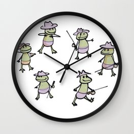 Lots of Finias Frogs Wall Clock