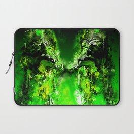 wolves hate monday splatter watercolor green Laptop Sleeve