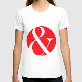 "Ampersand ""and"" logogram T-shirt"