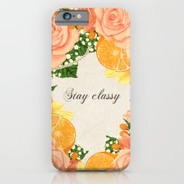 Flower bouquet | Keeping it classy iPhone Case