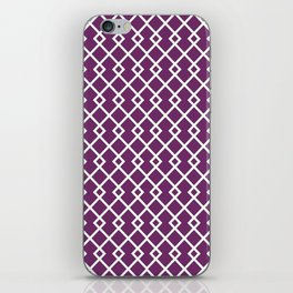 Byzantium Purple Diamond Pattern iPhone Skin