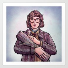 Log Lady Art Print