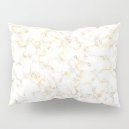 Reflection of the golden glare with marble Pillow Sham