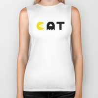 eat Biker Tanks featuring EAT by Adil Siddiqui