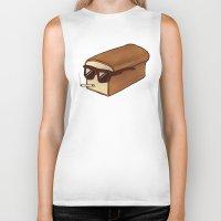 bread Biker Tanks featuring Cool Bread by Josh LaFayette