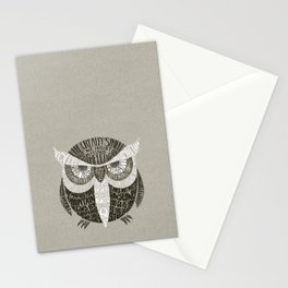 Wise Old Owl Says Stationery Cards