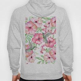 Hibiscus + Hummingbirds Pink Hoody