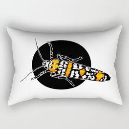 Ailanthus Webworm Moth (Atteva aurea) | BUGSPOTTING SERIES Rectangular Pillow