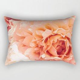 Peach Pink Peony Bunch Rectangular Pillow