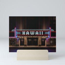 Hawaii Theater Mini Art Print