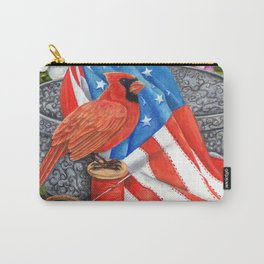Patriotic Cardinals Carry-All Pouch
