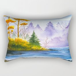 Autumn Landscape Rectangular Pillow