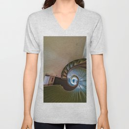 Spiral Staircase in the Old Lighthouse Unisex V-Neck