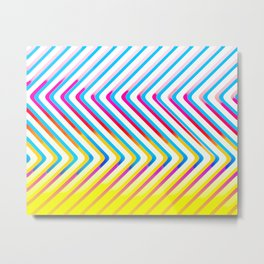 Pop Optical Art Metal Print