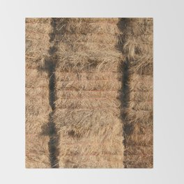 Hay Bales Throw Blanket