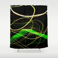 sonic Shower Curtains featuring Sonic Waves by Jonathan Wright Productions