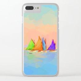Rainbow Fleet Clear iPhone Case