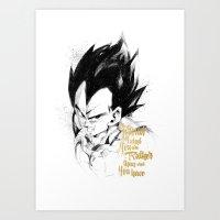 dragonball z Art Prints featuring Dragonball Z - Pride by Straife01