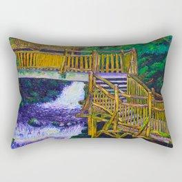 Stairs at Bushkill Falls Rectangular Pillow