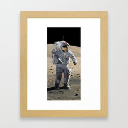 The Last Man on the Moon Framed Art Print