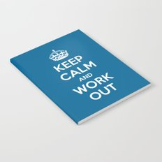 Keep Calm Workout Gym Quote Notebook