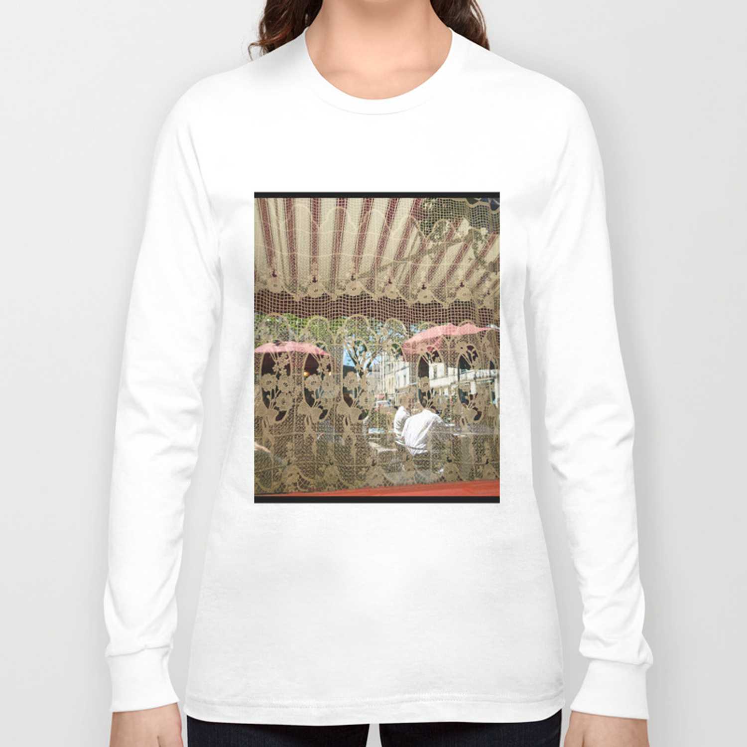 Cafe Curtains Long Sleeve T Shirt By Susaninparis Society6