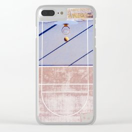 basketball court 3 Clear iPhone Case