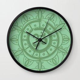 Ohm Mandala - Green Wall Clock
